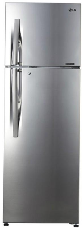 LG 335 L Frost Free Double Door Refrigerator(Shiny Steel, GL-R372JPZN)
