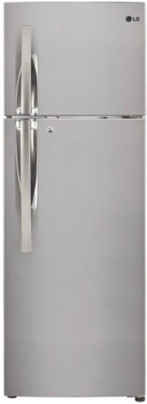 LG 284 L Frost Free Double Door Refrigerator(Shiny Steel, GL-T302RPZN)