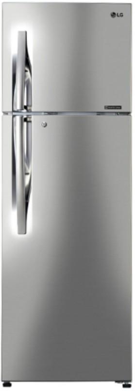 LG 308 L Frost Free Double Door Refrigerator(Shiny Steel, GL-C322RPZU)