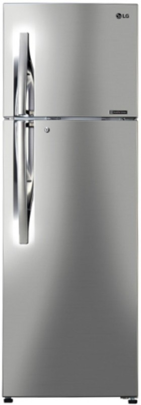 LG 284 L Frost Free Double Door Refrigerator(Shiny Steel, GL-C302RPZU)