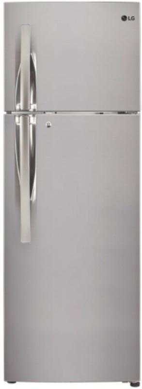 LG 308 L Frost Free Double Door Refrigerator(Shiny Steel, GL-T322RPZN)