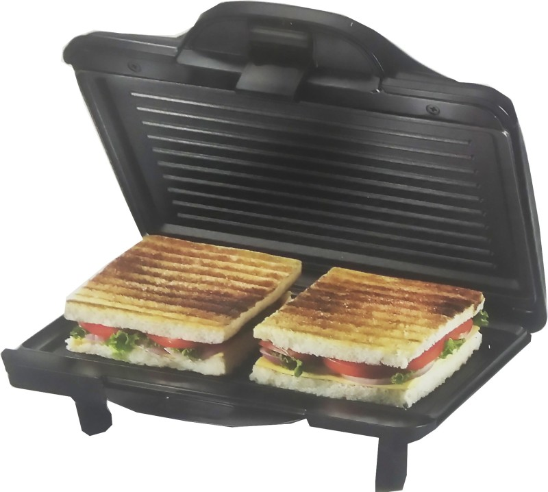 Prestige Sandwich Toaster (PGMFH) With Fixed Grill Plates Grill(Black)