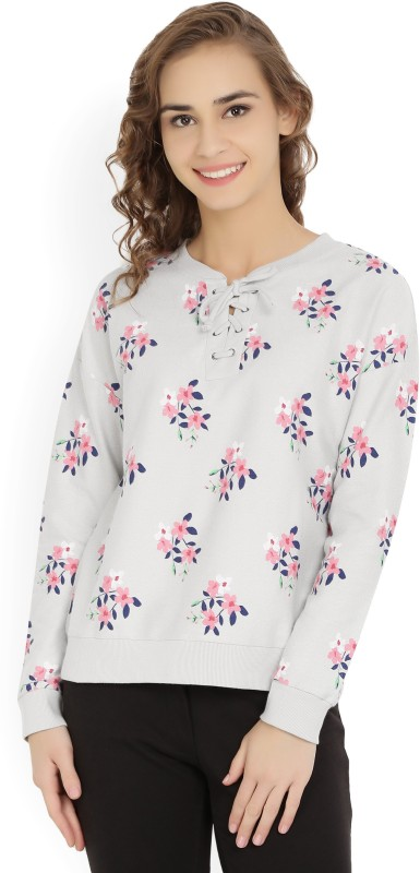 United Colors of Benetton Full Sleeve Printed Womens Sweatshirt