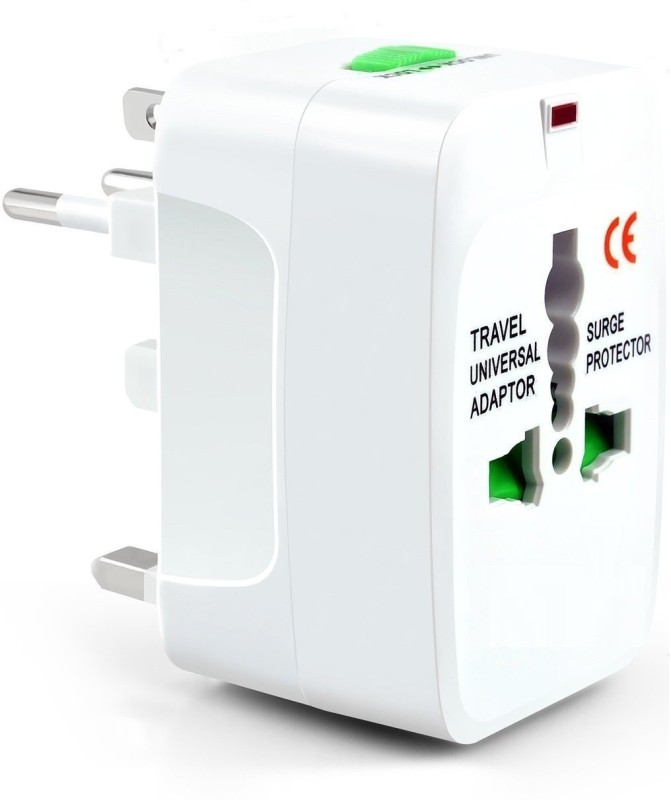 Andride All in One Universal International Travel AC Power Charger AU US UK EU converter Plug With 2 usb port Worldwide Adaptor (White) Worldwide Adaptor(Red, Green)