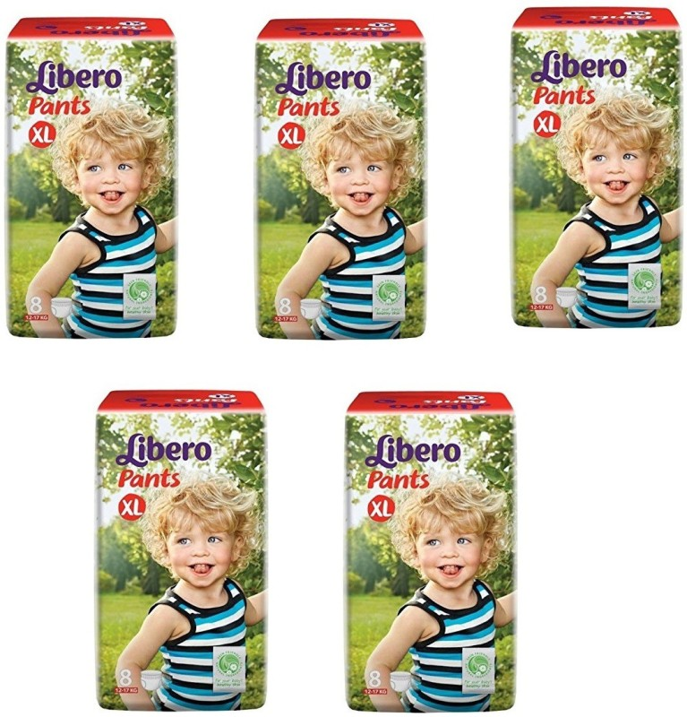 Libero Libero Diaper Pants Extra Large Size (8 Counts) Pack of 5 - XL(40 Pieces)