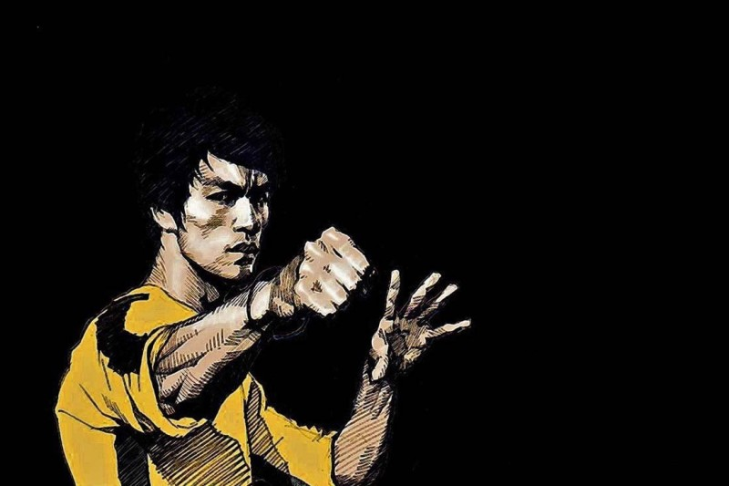 Athah Comic Poster Bruce Lee Hollywood Actor S-P by Paper Print Rolled Paper Print(12 inch X 18 inch, Rolled)