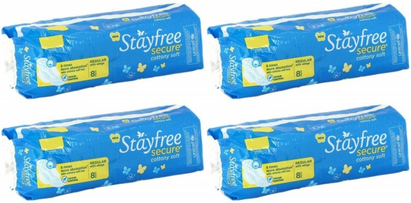 Stayfree Secure Sanitary Pad Sanitary Pad(Pack of 4)