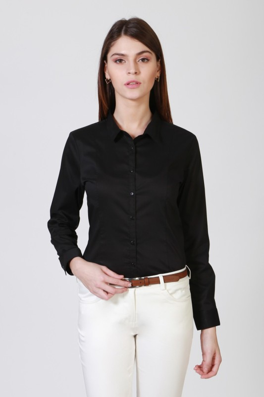 Allen Solly Women Solid Formal Spread Shirt