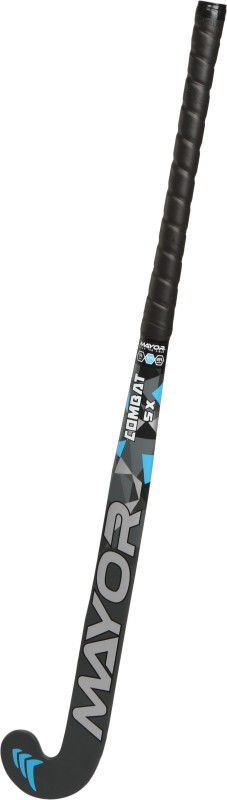 Mayor Combat 5X Hockey Stick - 36 inch(Black, Blue)