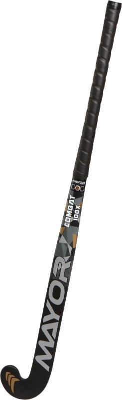 Mayor Combat 100X Hockey Stick - 36 inch(Black, Gold)