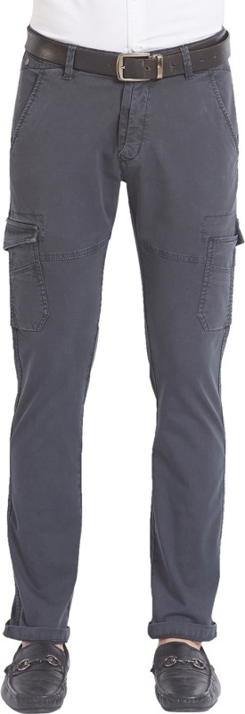 Spykar Slim Fit Mens Black Trousers