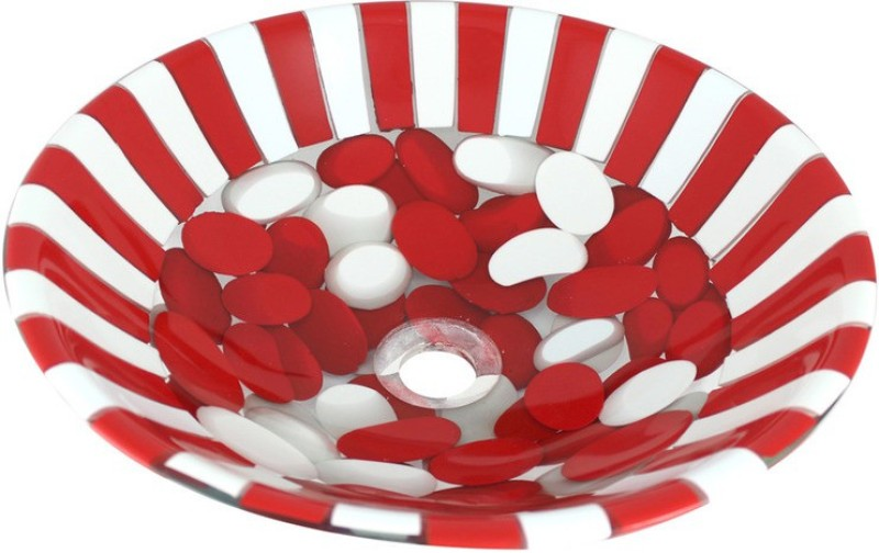 Mudit Resin Mu4 Table Top Basin(Red, White)