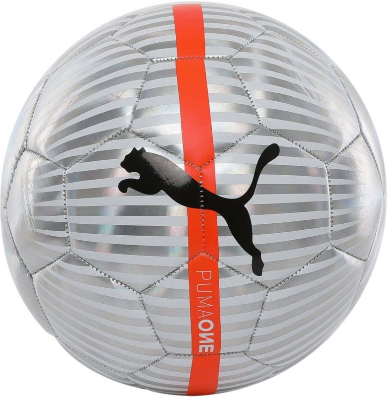 Puma One Chrome ball Football - Size: 5(Pack of 1, Silver)