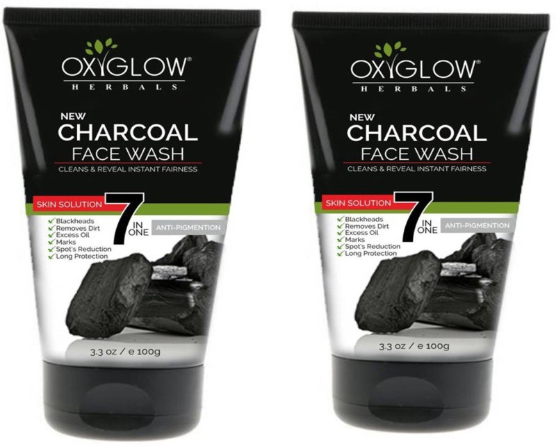 Oxyglow charcol face wash combo Face Wash(200 g)