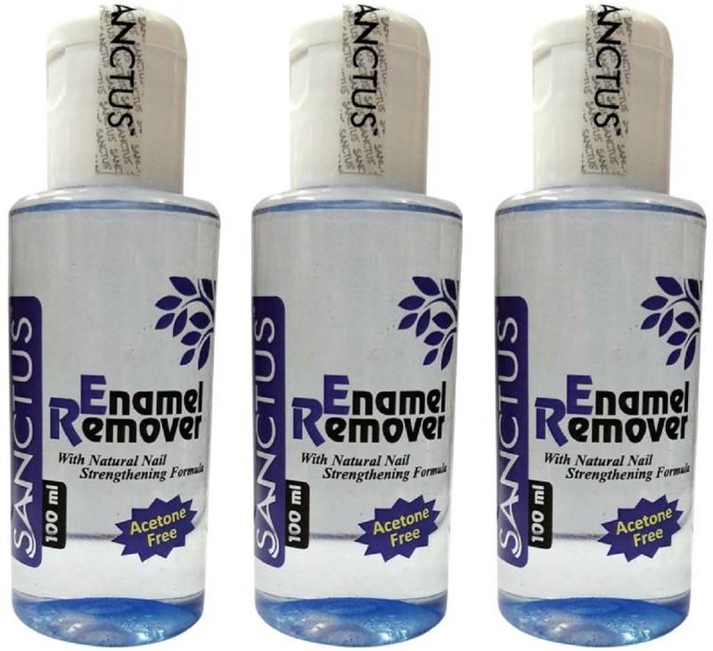 SANCTUS Enamel Remover (Acetone Free) - 100 ml (Pack of 3)(100 ml)