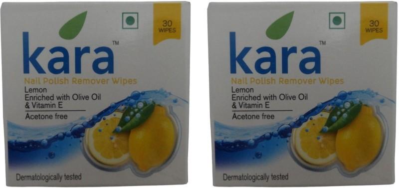 Kara Nail Polish Remover Wipes Lemon (Pack of 2)(30 g)