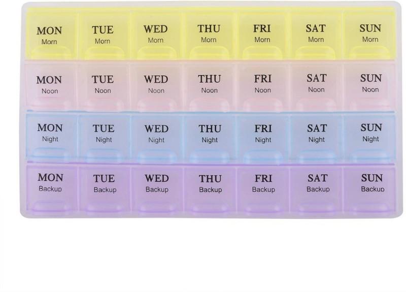 Ramco 7-day Medicine Organizer Pill Box(Multicolor)