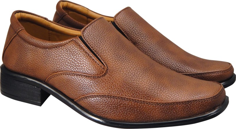 Action Synergy Mens RYD42 Tan Formal Slip On For Men(Tan)