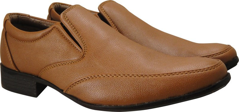 Action Synergy Mens UNS4509 Tan Formal Slip On For Men(Tan)