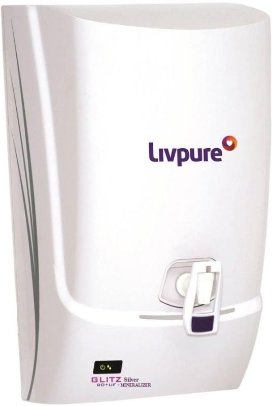 LIVPURE GLITZ SILVER 7 L RO + UF Water Purifier(White)