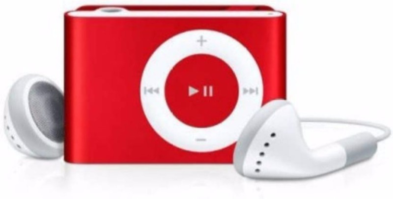MOBONE Red Mini MP3 Player(Red, 0 Display)