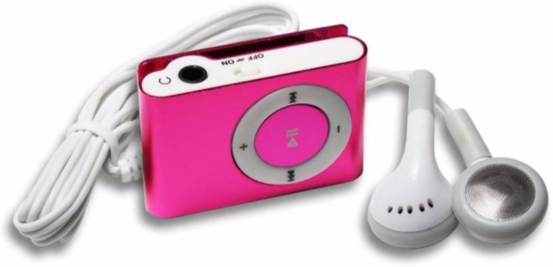 MOBONE Pink Mini MP3 Player(Pink, 0 Display)