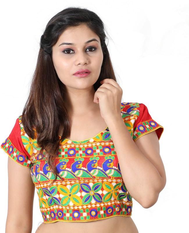 Monika Fabrics Round Neck Women Stitched Blouse