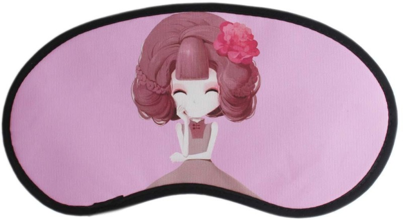 Tootpado Anime Cartoon Sleep Eye Mask With Elastic (Pack of 2) - Pink (LNTq075)(12 g)