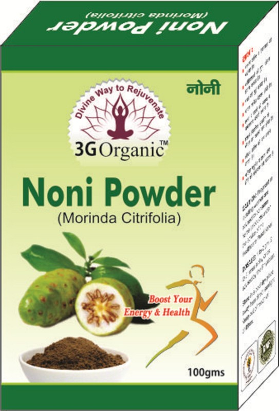 3G Organic Noni Powder Organic Morinda Citrifolia Hair Regrowth 100 Gms(100 g)