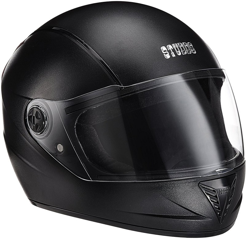 Studds B01A8MANO2 Motorbike Helmet(Black)