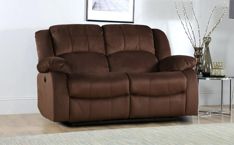 HomeTown Fabric Powered Recliners(Finish Color - Brown)