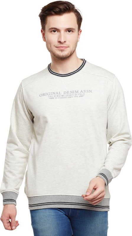 Duke Full Sleeve Solid Men Sweatshirt