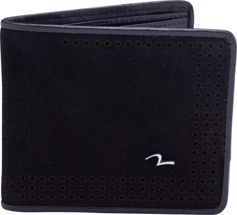Spykar Men Black Genuine Leather Wallet(8 Card Slots)