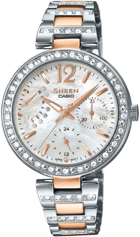 Casio SX161 Sheen Analog Watch - For Women