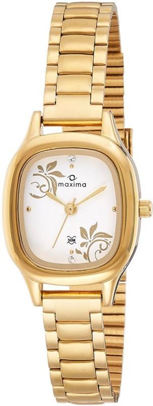 Maxima Analog White Dial Women's Watch - For Women