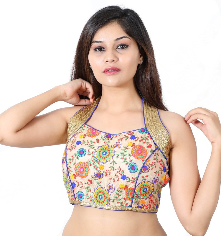 Monika Fabrics Halter Neck Women Stitched Blouse