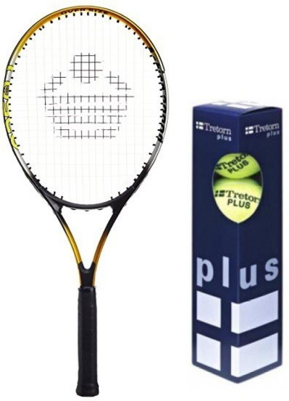 Cosco Combo of Two, one 'Action 2000D' Tennis Racquet and One 'TRETORN PLUS' Tennis Ball box- Tennis Kit