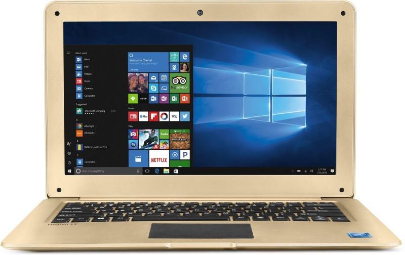Lava Helium Atom Quad Core 7th Gen - (2 GB/32 GB EMMC Storage/Windows 10 Home) C121 Thin and Light Laptop(12.5 inch, Gold, 1.31 kg) C121