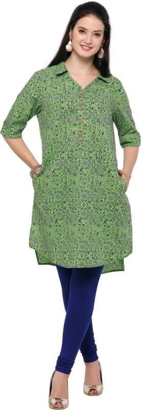 Aksaa Casual Printed Womens Maternity Wear Kurti(Green)