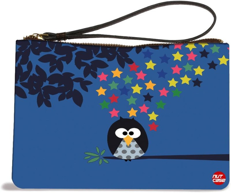 Nutcaseshop Owl Night Kids Pouch(Multicolor)