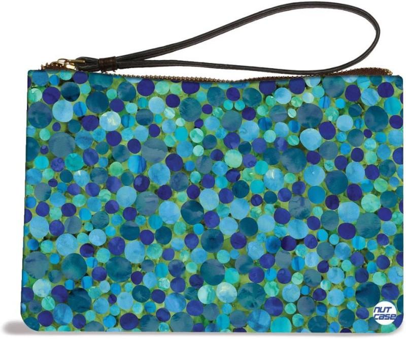 Nutcaseshop Blue Confetti Pouch(Multicolor)