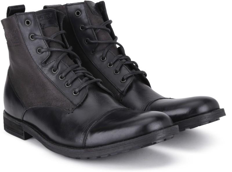 Levis Cow boy Boots For Men(Black)