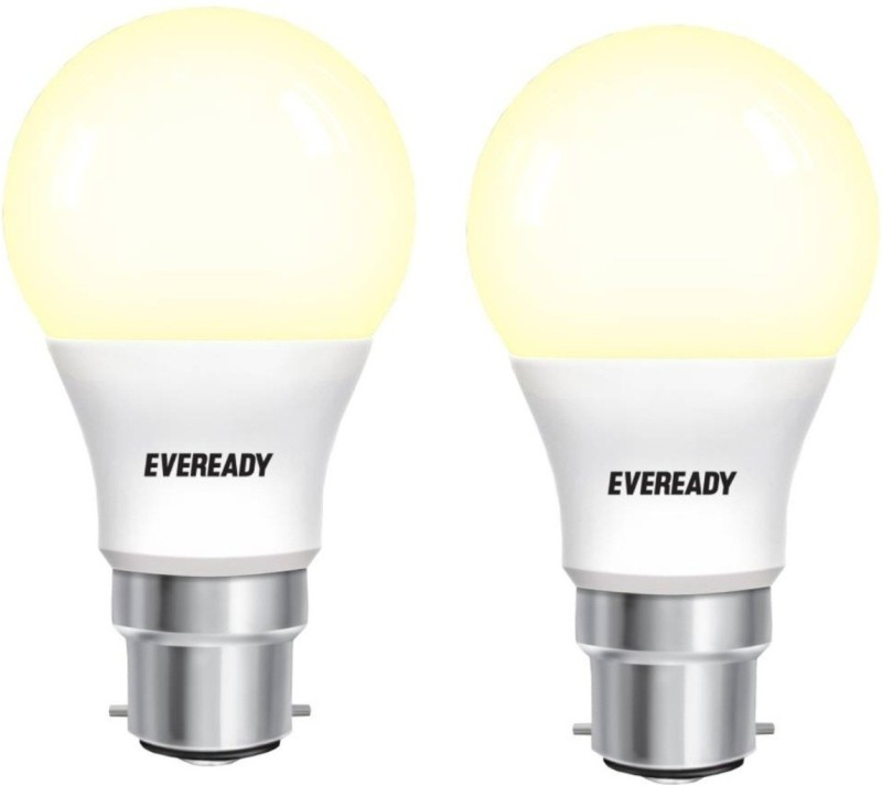 Eveready 5 W Standard B22 LED Bulb(Yellow, Pack of 2)