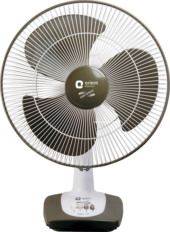 Orient Electric Table-27 3 Blade Table Fan(Grey)