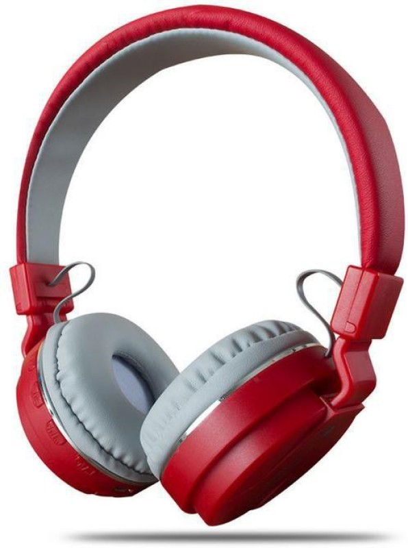 ShopyBucket Bluetooth Headset TM-024 Headset Wireless Bluetooth Headset With Card FM(Assorted Colour Will Be Shipped) Bluetooth Headset with Mic(Red, Over the Ear)