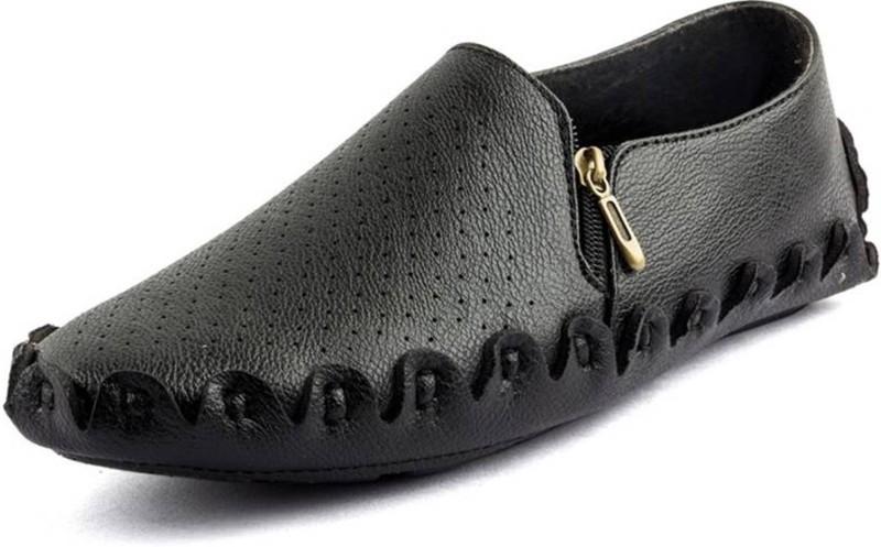 U2Shoes Boys Slip on Loafers(Black)