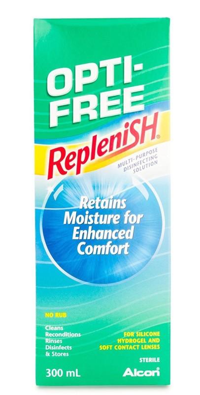 Alcon Opti-Free Replenish (300 ml) Multi-Purpose Contact Lens Solution(300 ml)
