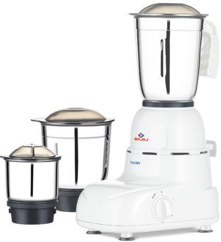 Bajaj GLORY 500 WATT 500 Mixer Grinder(White, 3 Jars)