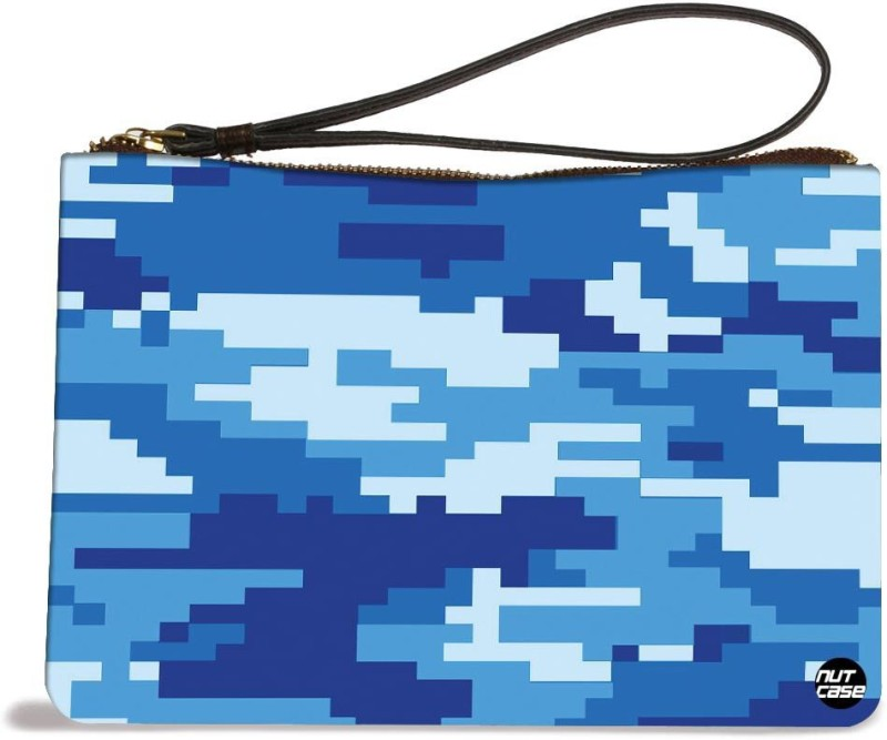 Nutcaseshop Navy Camo 8 Bit Pouch(Multicolor)