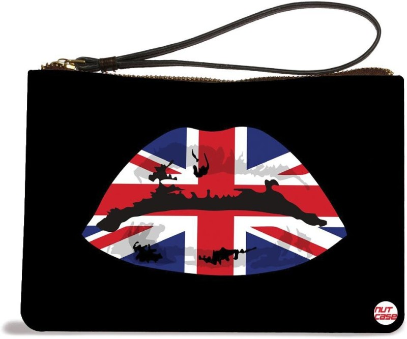 Nutcaseshop Sexy UK Lips Girls Pouch(Multicolor)